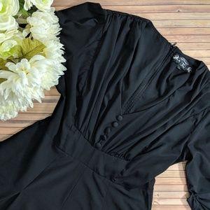 Hell Bunny Vixen Black Vintage Style Dress